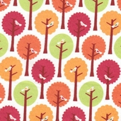 Summer Song Flannel Fabric - White - CLEARANCE