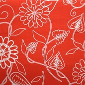 Summertime Fabric - Red