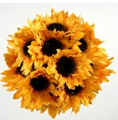 Sunflower Ball with Hanger - 7in - Yellow