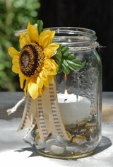 Sunflower Candle Jar