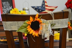 Sunflower Chair Tie