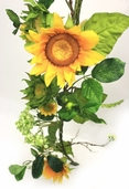 Sunflower Garland 6' - Yellow - Clearance