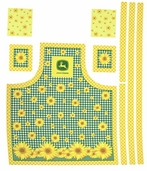 Sunflowers Cotton Fabric - Butcher Apron - CLEARANCE
