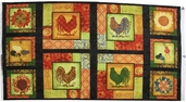 Sunrise Silhouette Cotton Fabric Panel - Multi
