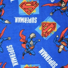 Superman Fleece Fabric - Heroic - Blue