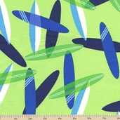 Surf Time Surfboard Cotton Fabric - Ocean