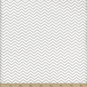 Surrounded By Love Small Chevron Cotton Fabric - Grey