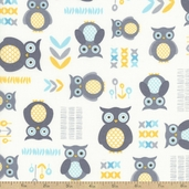 Sweet Baby Cotton Fabric - White