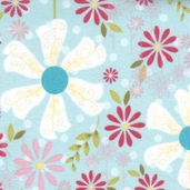 Sweet Divinity Cotton Flannel Fabric - Blue - CLEARANCE