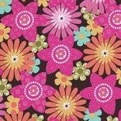 Sweet Flirtations Cotton Fabric - Pink - Clearance