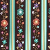 Sweet Flirtations Cotton Fabric - Turquoise Stripe