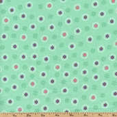 Sweet Flirtations Dots Cotton Fabric - Turquoise 3831-60248-6