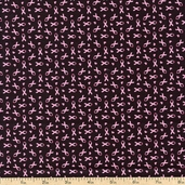 Sweet Jane Small Ribbons Cotton Fabric - Black