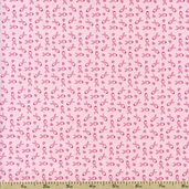 Sweet Jane Small Ribbons Cotton Fabric - Pink