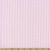 Sweet Jane Stripe Cotton Fabric - Pink