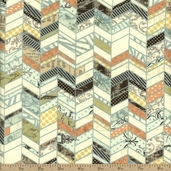 Moda Sweet Serenade Chevron Cotton Fabric - Cream