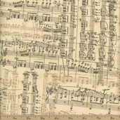 Moda Sweet Serenade Music Cotton Fabric - Cream