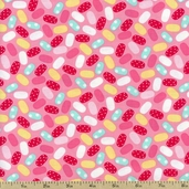 Sweet Shoppe Jelly Beans Cotton Fabric - Rose 03644-26