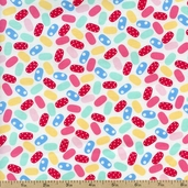 Sweet Shoppe Jelly Beans Cotton Fabric - White 03644-09