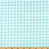 Sweet Shoppe Sweet Check Cotton Fabric - Aqua 03653-05