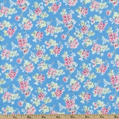 Sweet Shoppe Little Flower Cotton Fabric - Blue 03645-05
