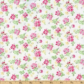 Sweet Shoppe Little Flower Cotton Fabric - White 03645-09