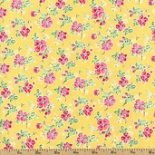 Sweet Shoppe Little Flower Cotton Fabric - Yellow 03645-03