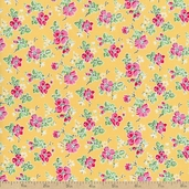 Sweet Shoppe Little Flower Cotton Fabric - Yellow
