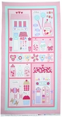 Sweet Shoppe Petal Panel Cotton Fabric - Pink 03640-01