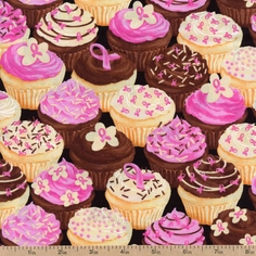 Sweet Tooth Cupcakes Cotton Fabric - Multi 05648-01