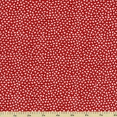 Sweetcakes Cotton Fabric - Tiny Hearts - Love Red C3145