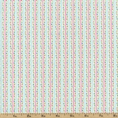Sweetie Pie Bud Stripe Cotton Fabric - Pink/Aqua 03647-25