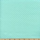 Sweetie Pie Little Dot Cotton Fabric - Aqua 03652-05