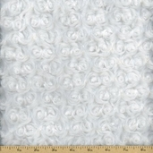Swirl Minky Polyester Fabric - Snow White #DR32058-RC-4