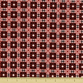 Synergy Cotton Fabric - Chic Tile - Red - CLEARANCE