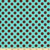 Ta Dot Cotton Fabric - Azure CX1492-AZUR-D