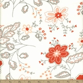 Moda Table For Two Romantic Floral Cotton Fabric - Diamond