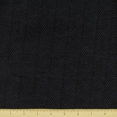 Tailor Made Cotton Flannel - Herringbone - Charcoal