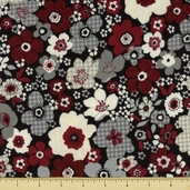 Tailor Made Flannel Fabric - Wine