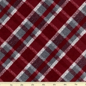 Tailor Made Flannel Fabric - Wine - CF7979