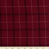 Tailor Made Flannel Fabric - Wine - CF7983