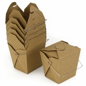 Take Out Boxes - Large - 12pcs - Natural Brown