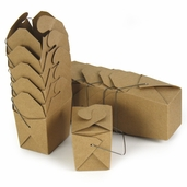 Take Out Boxes - Small - 12pcs - Natural Brown