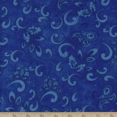Tangier Paisley Cotton Fabric - Royal Blue