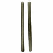 Taper Candle Hand Crafted Rolled Beeswax - Black Mini Stripe - Clearance