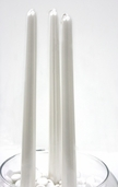 Taper Candles Pearlescent 12in. Box of 12 - Pearl White