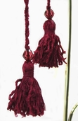 Tassel w/ Bead Pkg of 3 - Burgundy