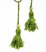 Tassel w/ Bead Pkg of 3 - Green