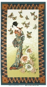 Tea House Geisha Panel Cotton Fabric - Antique 01693-84