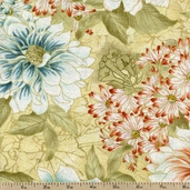 Tea House Tea Garden Cotton Fabric - Antique 01694-84